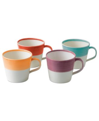 Product Details. Designed to commemorate Royal Doulton\u0027s ...  sc 1 st  Macy\u0027s & Royal Doulton Dinnerware Set of 4 1815 Bright Mugs - Glassware ...