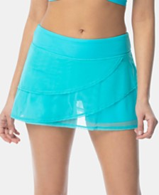 Coco Reef Illusion-Overlay Swim Skirt
