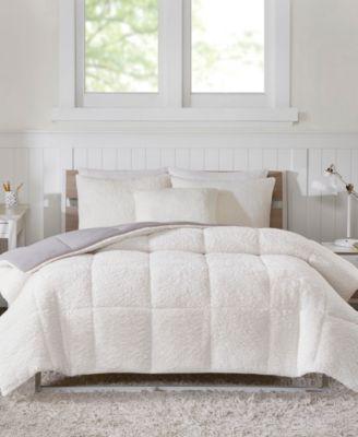 Intelligent Design Jensen Twin/Twin XL Reversible Sherpa to Softspun Flannel 2 Piece Comforter Mini Set
