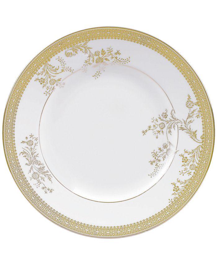 """Vera Wang Wedgwood - """"Lace Gold"""" Salad Plate"""