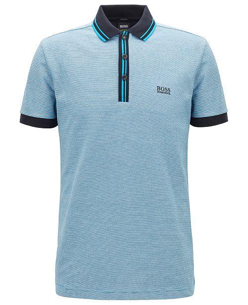 8235c0a58 Hugo Boss BOSS Men's Paddy 2 Regular-Fit Cotton Polo Shirt & Reviews ...