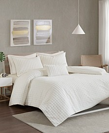 Urban Habitat Sadie Full/Queen Cotton Chenille Jacquard 4 Piece Comforter Set