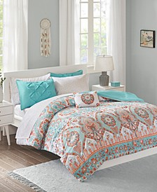 Intelligent Design Vinnie Full 8 Piece Comforter and Sheet Set