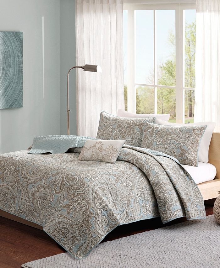 Madison Park - Pure Ronan Full/Queen 4-Pc Coverlet Set