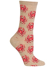 Women's Crab Fashion Crew Socks