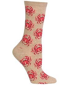 Women's Crab Fashion Crew Socks