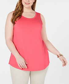Style & Co Plus Size Swing Tank Top, Created for Macy's