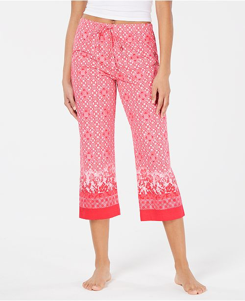 924d7c5d527c Charter Club Printed Soft Knit Cotton Cropped Pajama Pants, Created for  Macy's ...