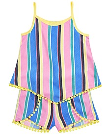 Little Girls 2-Pc. Striped Tank Top & Shorts Set, Created for Macy's