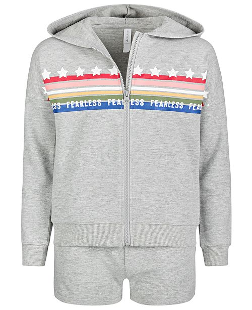Ideology Big Girls French Terry Hoodie & Shorts, Created for Macy's