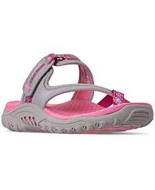 Skechers Little Girls' Reggae - Sparkly Explorer Sandals from Finish Line