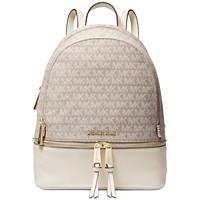 Deals on MICHAEL Michael Kors Rhea Jacquard Signature Backpack