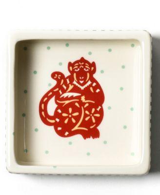 by Laura Johnson Chinese Zodiac Monkey Square Trinket Bowl