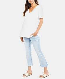 Luxe Essentials Maternity Cropped Jeans