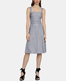 BCBGMAXAZRIA Striped Fit & Flare Dress