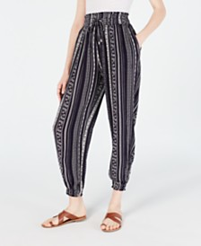 Freshman Juniors' Printed Jogger Pants