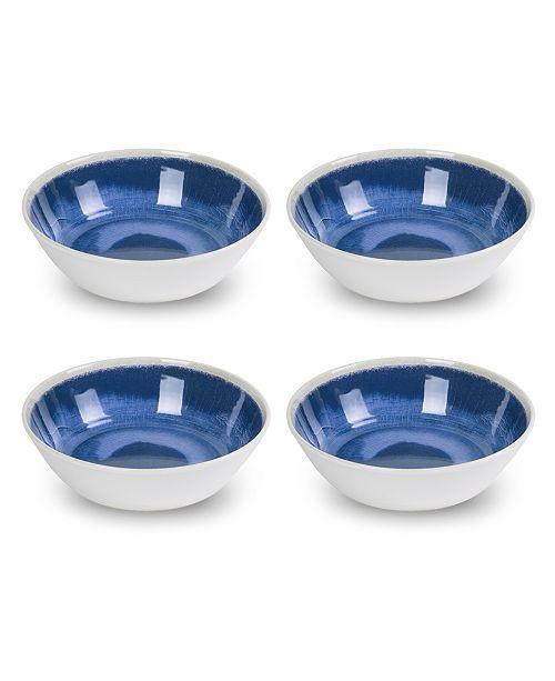 TarHong Raku Blue Bowl, Set of 4