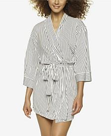 Ambra Modal Striped Wrap Robe, Online Only