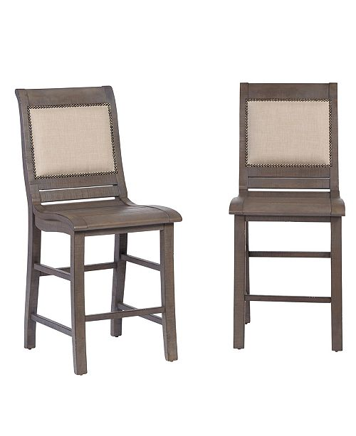 Progressive Furniture Willow Upholstered Counter Chair - Set of 2