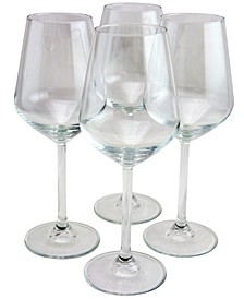 Allegra 4 Piece 16.25 Ounce Red Wine Glass Set