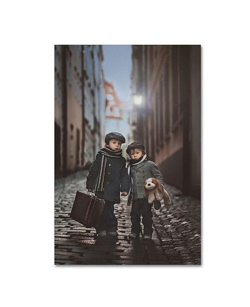 "Trademark Global Tatyana Tomsickova 'Les Miserables' Canvas Art - 24"" x 16"" x 2"""