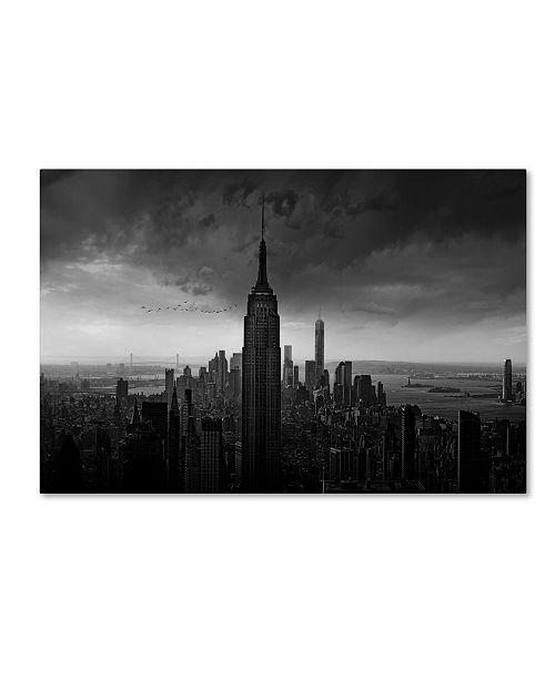 "Trademark Global Wim Schuurmans 'New York Rockefeller View' Canvas Art - 24"" x 16"" x 2"""