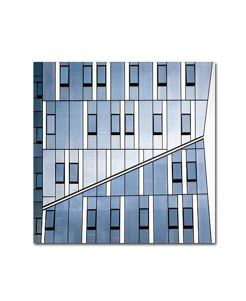 "Trademark Innovations Nir Blatt 'Crossing' Canvas Art - 14"" x 14"" x 2"""