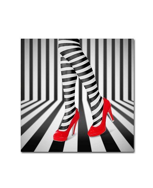 "Trademark Global Ihdar Nur 'Red Shoes' Canvas Art - 35"" x 35"" x 2"""