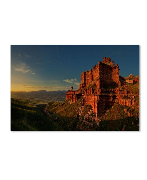 "Trademark Global David Martin Castan 'Small Canyon' Canvas Art - 32"" x 22"" x 2"""