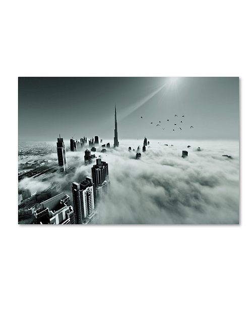 "Trademark Global Naufal 'Up Up And Above' Canvas Art - 19"" x 12"" x 2"""