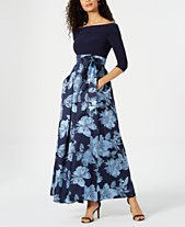 8ffc2e5b8 Jessica Howard Off-The-Shoulder Printed Gown