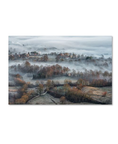 "Trademark Global Riccardo Lucidi 'Misty Fields' Canvas Art - 19"" x 12"" x 2"""