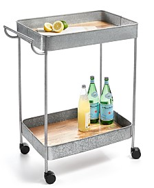 Martha Stewart Collection Galvanized Bar Cart, Created for Macy's