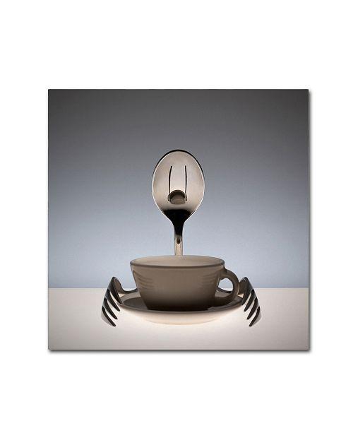 "Trademark Global Wieteke de Kogel 'Coffee Time' Canvas Art - 24"" x 24"" x 2"""
