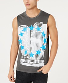 GUESS Men's Graffiti Girl Tank