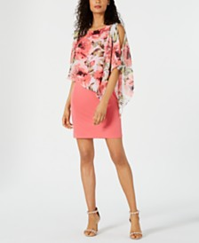 Connected Cold-Shoulder Popover Dress