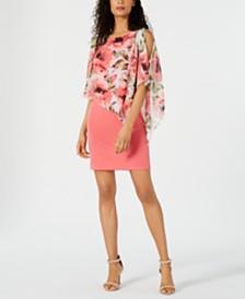 Connected Cold-Shoulder Popover Dress