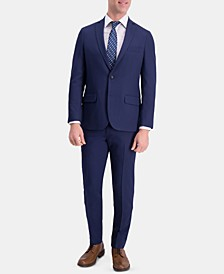 Men's Active Series Slim-Fit Stretch Moisture-Wicking Herringbone Suit Separates