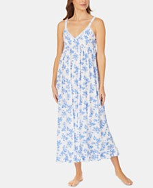 Eileen West Pointelle Knit Ballet-Length Nightgown