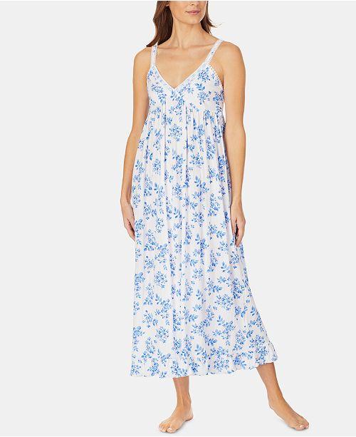 Eileen West Pointelle Knit Ballet-Length Nightgown