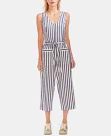Vince Camuto Striped Cropped Jumpsuit
