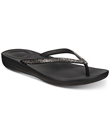 Iqushion Sparkle Flip-Flop Sandals