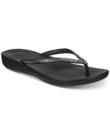 FitFlop Iqushion Sparkle Flip-Flop Sandals