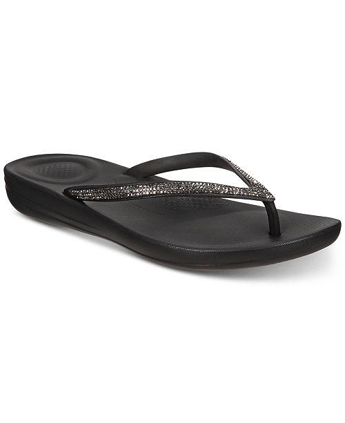 FitFlop Iqushion Sparkle Flip-Flop Sandals