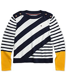 Tommy Hilfiger Adaptive Little and Big Girls' Portland Sweater with Velcro® Closure