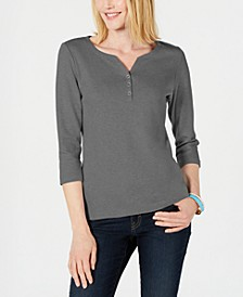 Cotton Henley Top, Created for Macy's