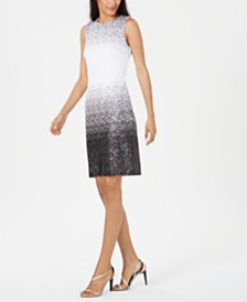 Calvin Klein Sequined Ombré Sheath Dress