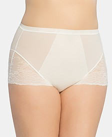 Women's  Plus Size Spotlight on Lace Brief 10123P