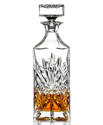godinger barware dublin whiskey decanter all glassware drinkware dining entertaining