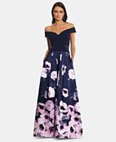 fa9cf11de69 X by Xscape Off-The-Shoulder Floral-Print Gown